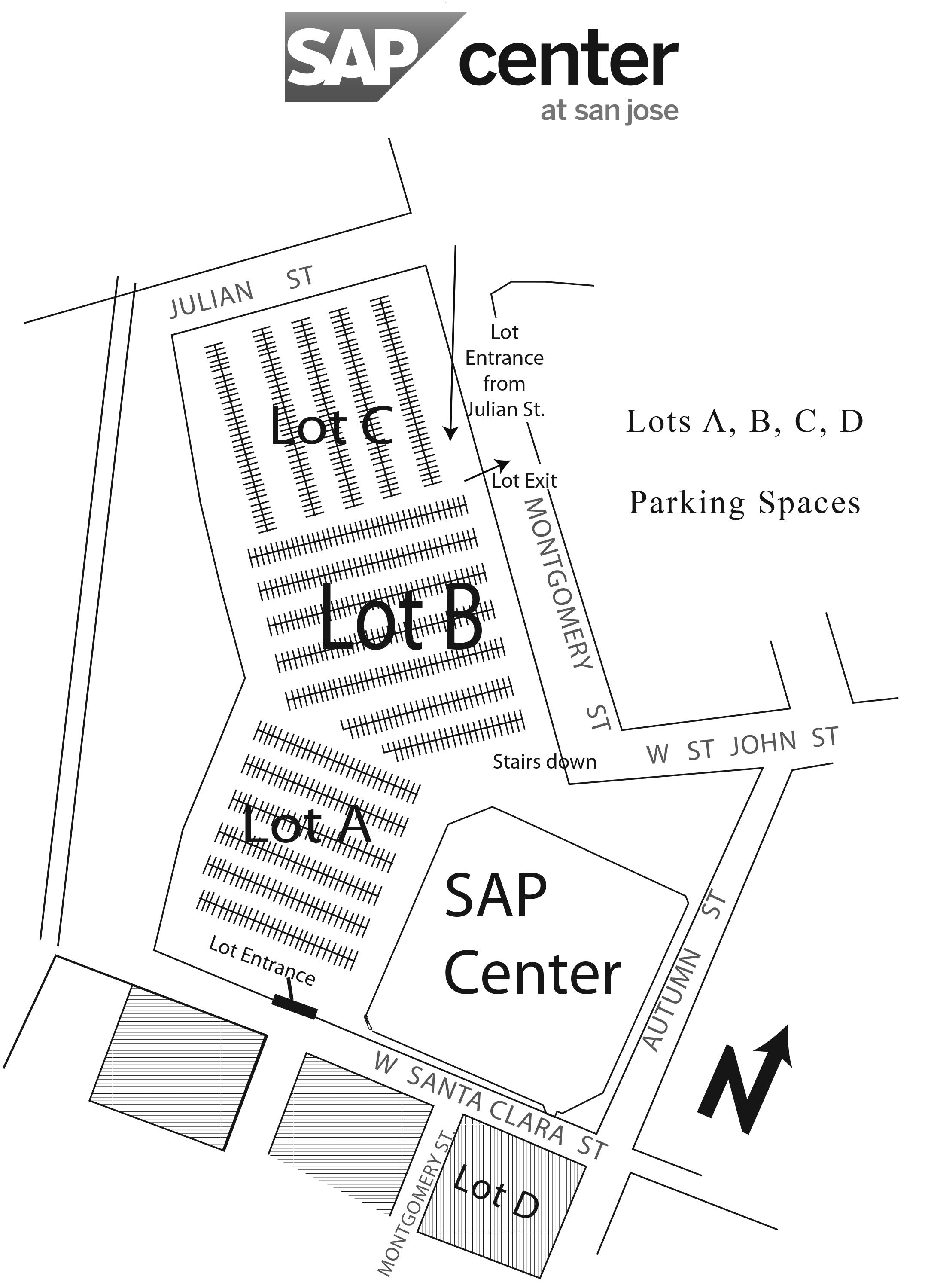 SAP Center Lot B Employee Parking